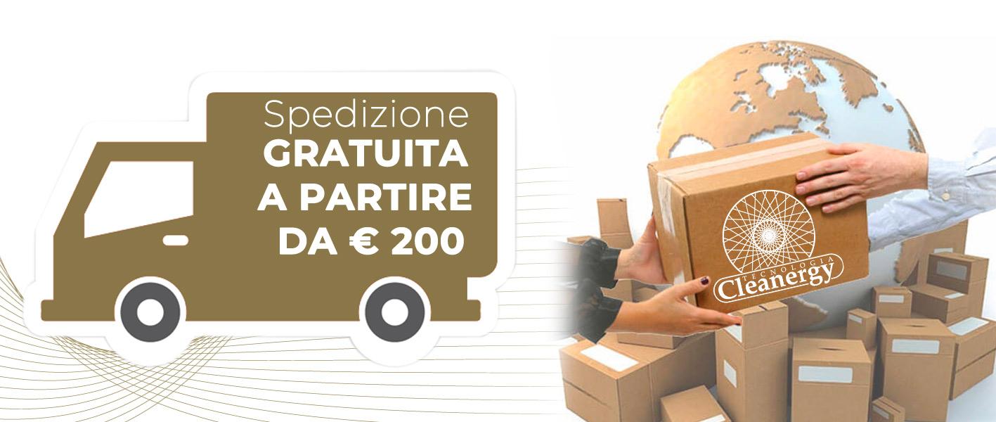 Spedizione gratuita a partire da € 200